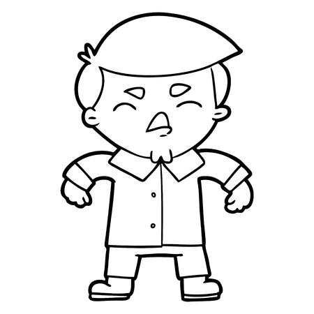 Cartoon angry businessman illustration on white background. Ilustração