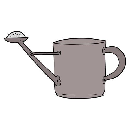 Cartoon watering can Vectores