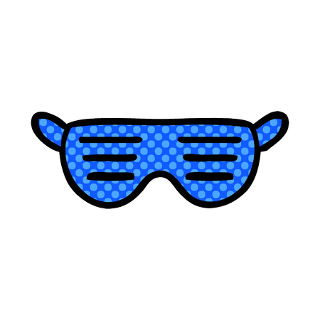Cartoon sunglasses illustration on white background.