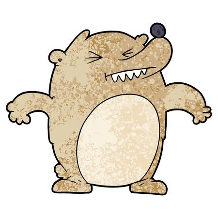 Cartoon bear closing eyes