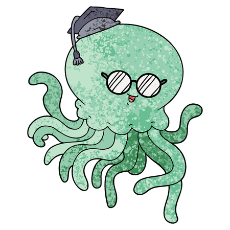 Cartoon jellyfish in love Ilustração