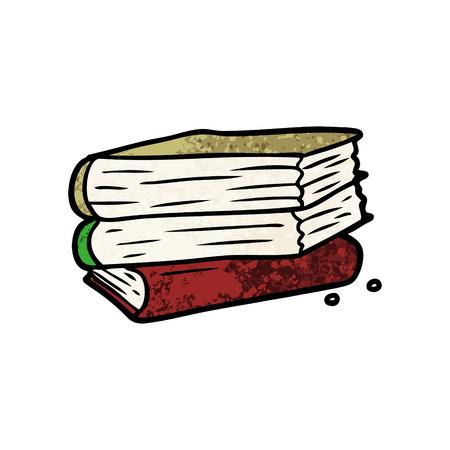 Cartoon stack of books  イラスト・ベクター素材