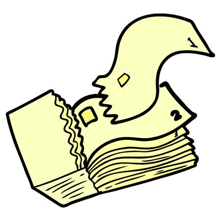 Cartoon yellow tickets Illustration