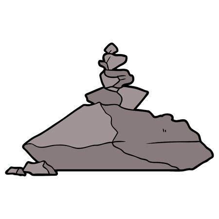Cartoon pile of rocks