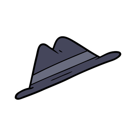 A cartoon hat isolated on plain background.