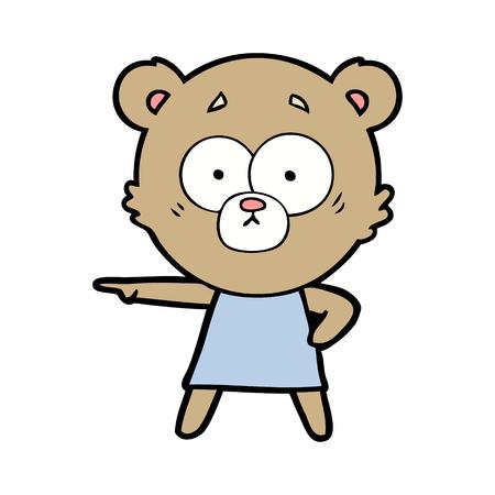 A bear cartoon chraracter isolated on plain background. Фото со стока - 96622150