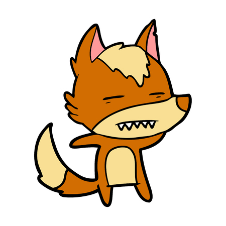 A fox cartoon character isolated on plain background. Фото со стока - 96622509