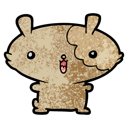 A cartoon hamster isolated on plain background. Illustration