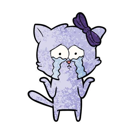 A cartoon cat on a plain background