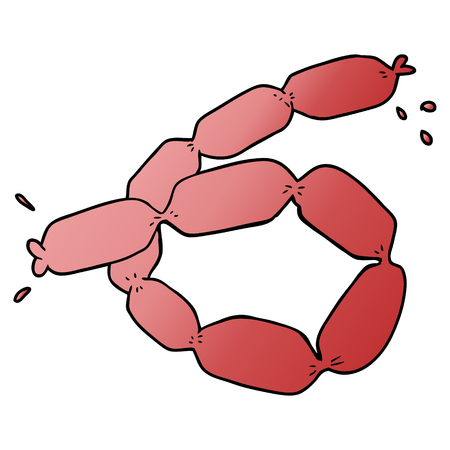 A cartoon sausages isolated on plain background. Vettoriali