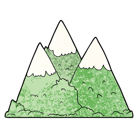 A cartoon mountains isolated on plain background.