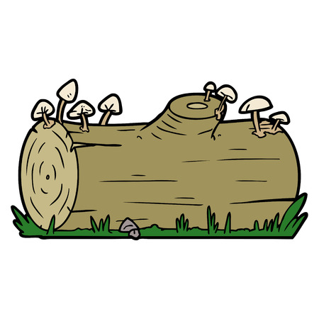 A cartoon log isolated on plain background.