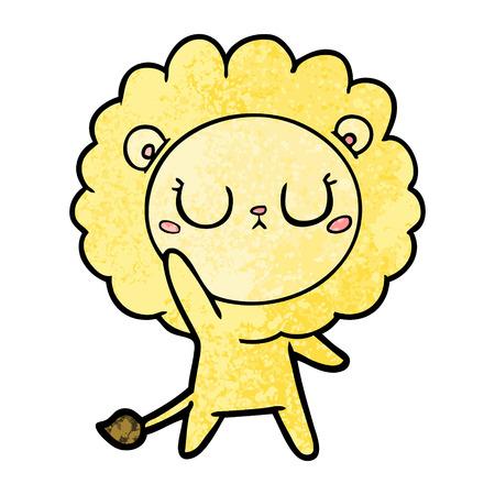 A cartoon lion isolated on plain background. Иллюстрация