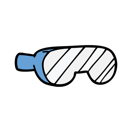 A cartoon safety goggles isolated on plain background.