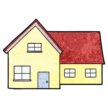 Een cartoon huis geïsoleerd op effen achtergrond.