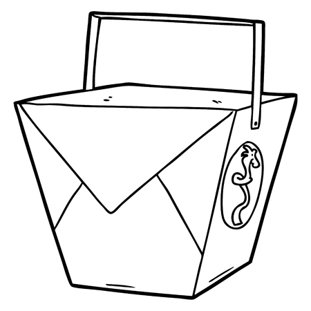 cartoon takeout food Ilustração