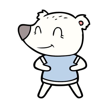 A polar bear cartoon on a plain background Illustration