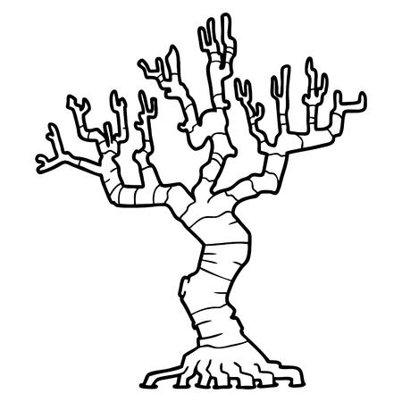 cartoon dead tree Stockfoto - 96626075