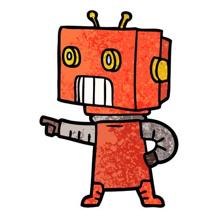 cartoon robot  イラスト・ベクター素材