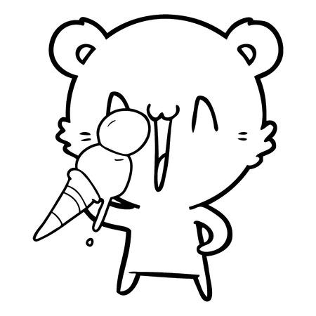 laughing polar bear cartoon 스톡 콘텐츠 - 96626343