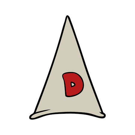 A school dunce hat isolated on plain background.