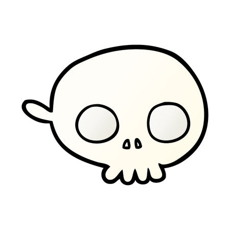 A cartoon spooky skull mask isolated on plain background.