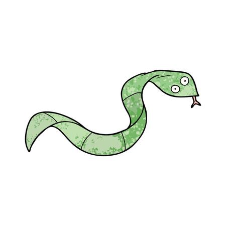 A cartoon snake isolated on plain background.