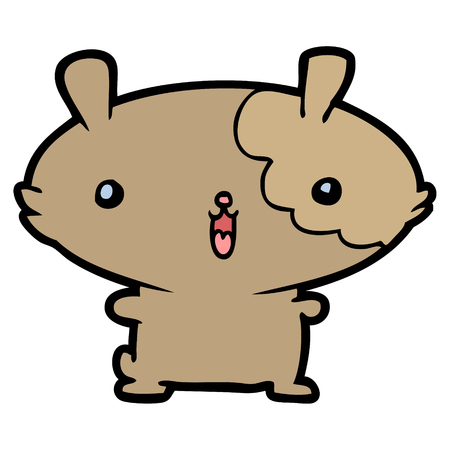 A cartoon hamster isolated on plain background. Иллюстрация