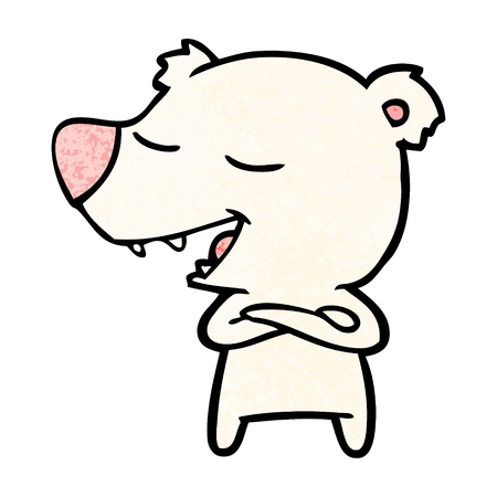 A cartoon polar bear isolated on plain background.