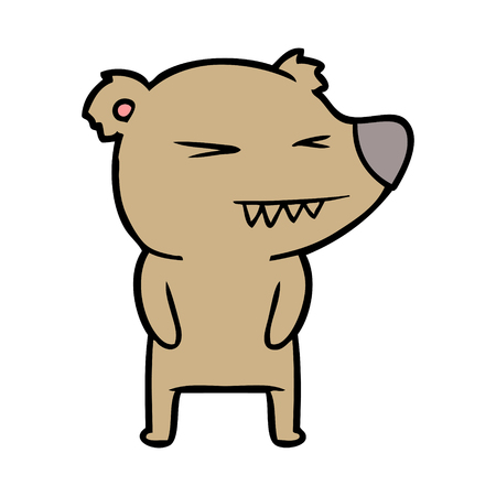 A bear cartoon character isolated on plain background. Фото со стока - 96638225