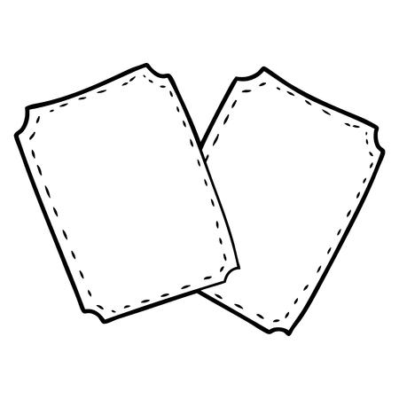 cartoon tickets Vector illustration.