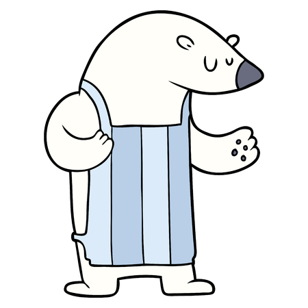 Cartoon polar bear chef Illustration