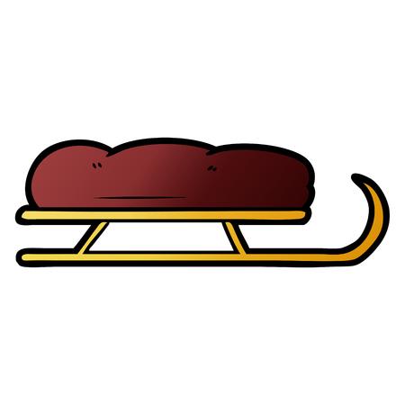 cartoon sledge Vector illustration.