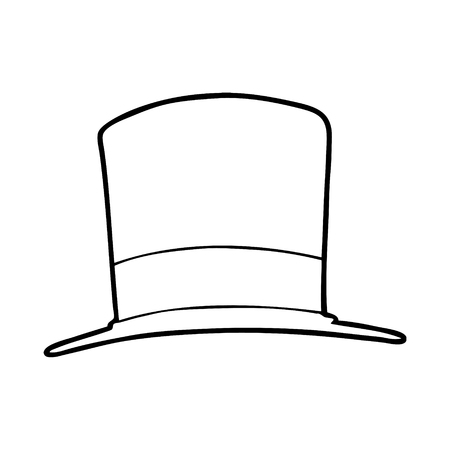 cartoon top hat Vector illustration.