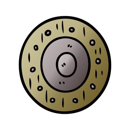 cartoon shield Vector illustration. Illustration