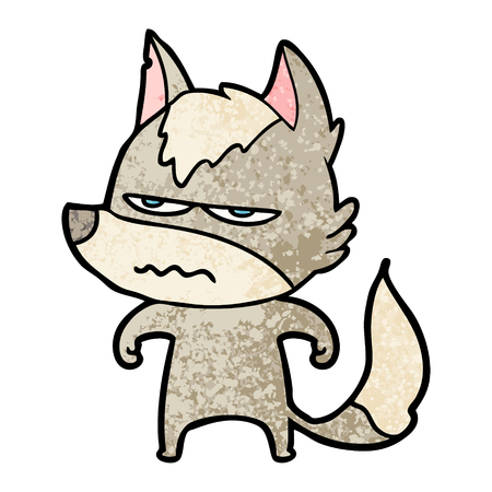 Cartoon annoyed wolf Standard-Bild - 96638344