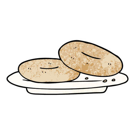 cartoon donuts Vector illustration.  イラスト・ベクター素材