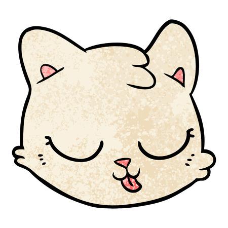 cartoon cat face Vector illustration.