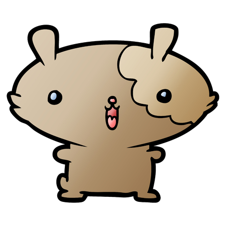 cartoon hamster Vector illustration. Ilustracja