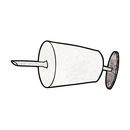 cartoon medical syringe Vector illustration.