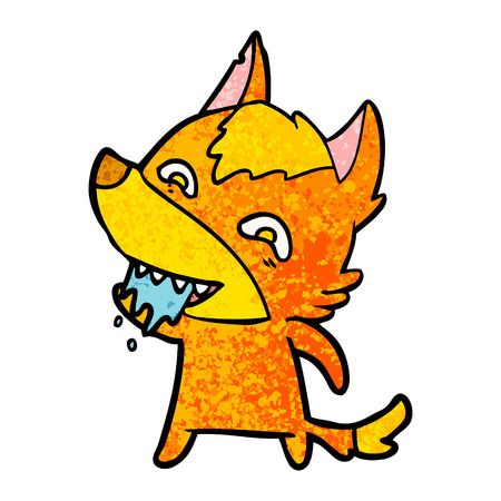 Hungry fox cartoon character Imagens - 96639362
