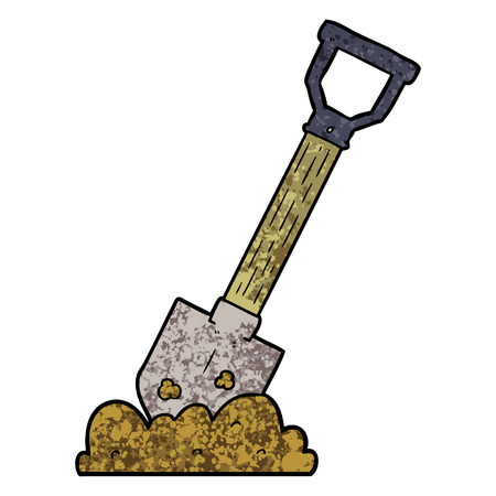 Cartoon shovel Ilustrace