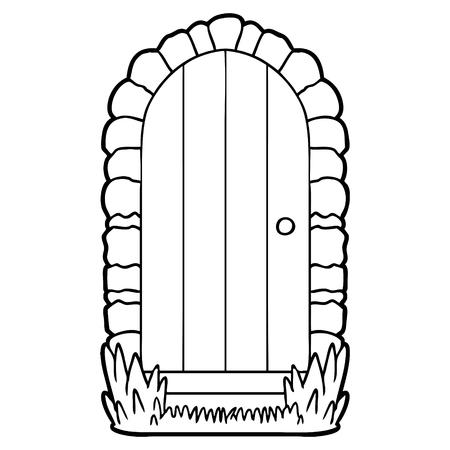 Cartoon doorway Illusztráció