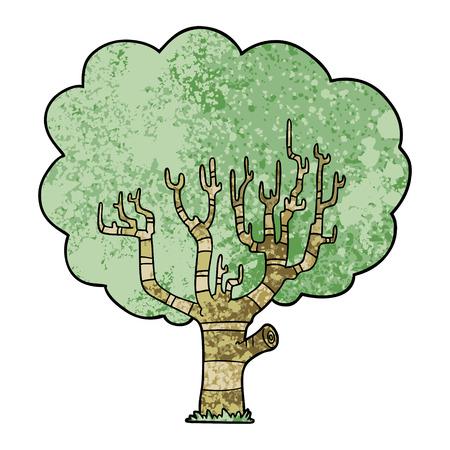 漫画の木ベクトルのイラスト。  イラスト・ベクター素材