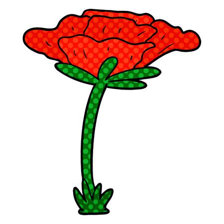 Poppy flower cartoon