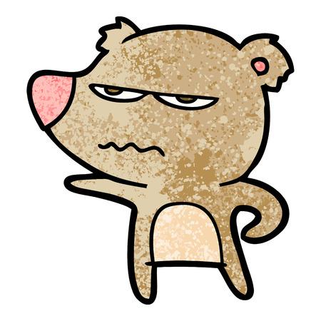 Annoyed bear cartoon