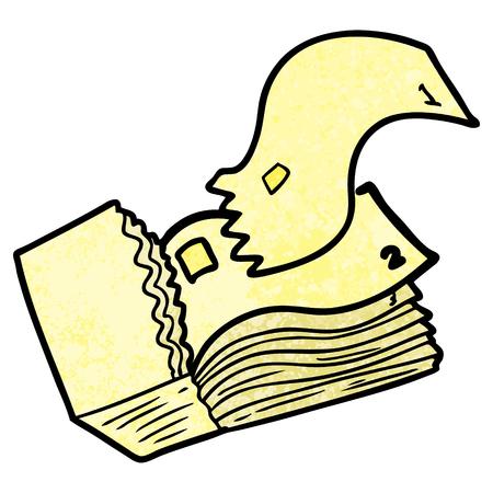 Cartoon Tickets Vektor-Illustration. Vektorgrafik