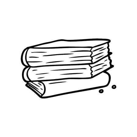 cartoon stack of books illustration
