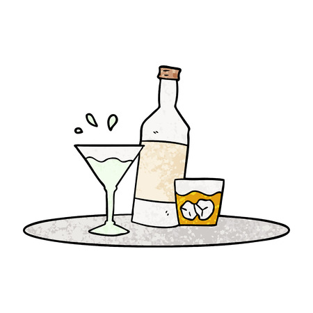 cartoon drinks on tray