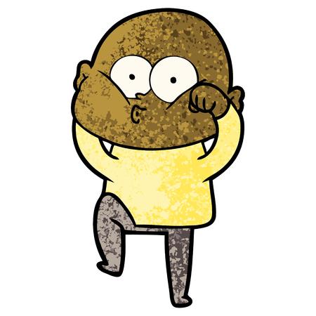 cartoon bald man staring Standard-Bild - 96620218